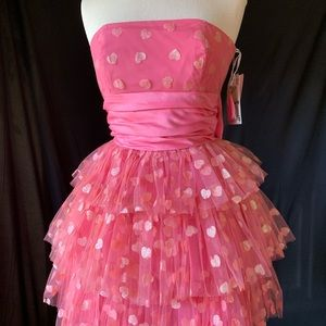 Betsey Johnson Babydoll glitter hearts